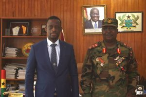 General Officer Commanding Southern Command Calls on Regional Minister.