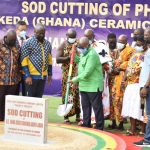 PRESIDENT AKUFO – ADDO COMMISSION PHASE 3 AND  CUT SOD FOR PHASE 4 OF KEDA CERAMICS FACTORY IN SHAMA, FRIDAY SEPTEMBER 3RD.