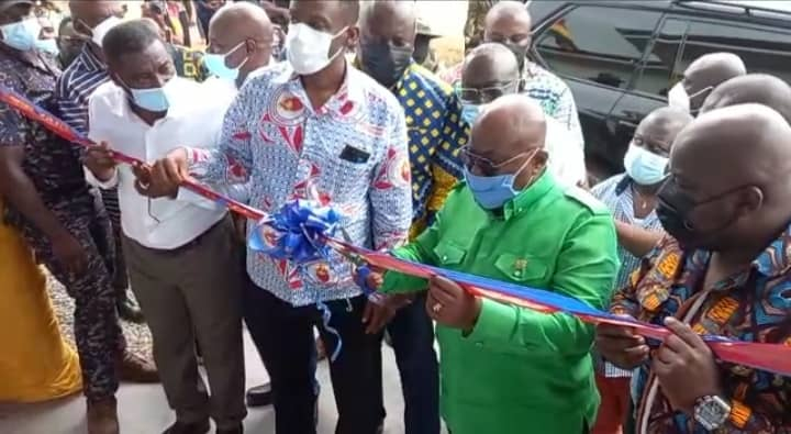 PRESIDENT COMMISSIONS A RUBBER PROCESSING FACTORY AT DOMPEM NO. 1 IN THE WASSA EAST DISTRICT. FRIDAY SEPT. 3RD, 2021