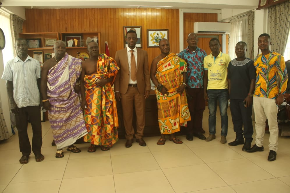 LEADERSHIP OF SANKOR & CAPE THREE POINTS PAY COURTESY CALL ON REGIONAL MINISTER
